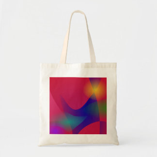 Dark Red Abstract Art Tote Bags
