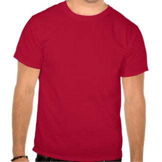 Dark Red Abstract Art Tee Shirt