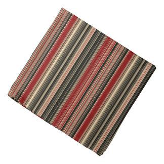 Dark Red and Black Striped Pattern Bandana