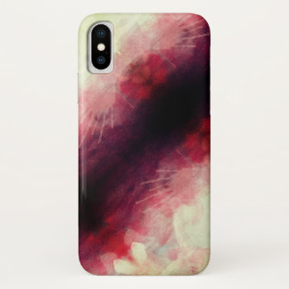 Dark Red And Cream Splash Case-Mate iPhone Case