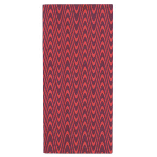 Dark Red and Dark Purple Chevron Style Design Wood USB Flash Drive