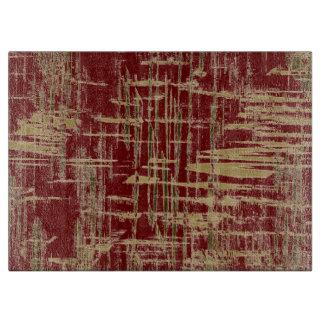 Dark Red and Gold Modern Art Cutting Board