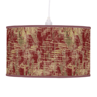 Dark Red and Gold Modern Art Pendant Lamp