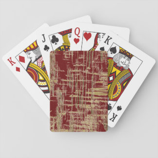 Dark Red and Gold Modern Art Playing Cards