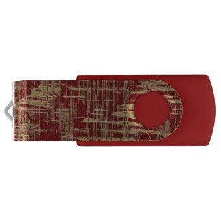 Dark Red and Gold Modern Art USB Flash Drive