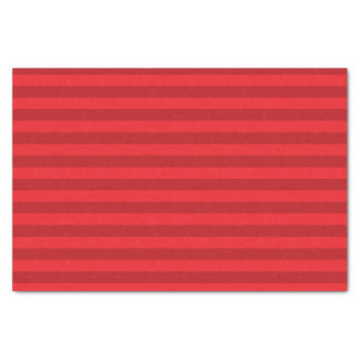 Dark Red and Red Stripes Tissue Paper