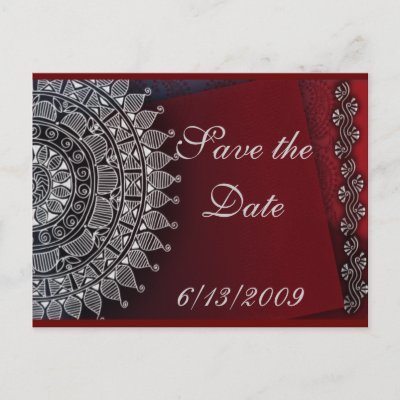red background with silver Indian decoration Thousands of wedding and