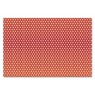 Dark Red and White Polka Dots Tissue Paper