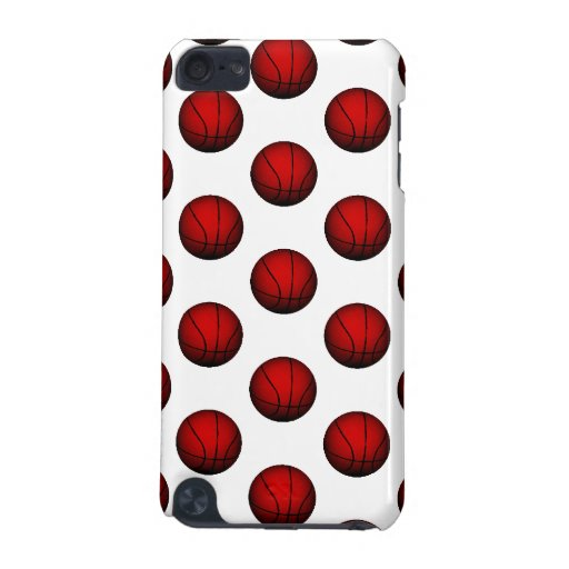Dark Red Basketball Pattern iPod Touch (5th Generation) Cases