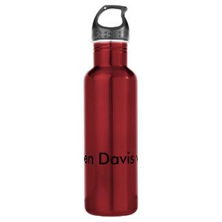 Dark red Ben Davis vlogs water bottle