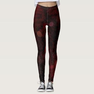 Dark Red Bubbles Leggings