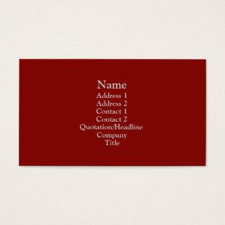 Dark Red Business Card