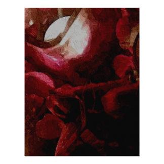 Dark Red Candlelight Oil Painting Custom Letterhead