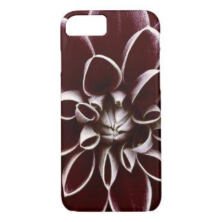 Dark red dahlia flower blossom iPhone 7 case