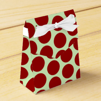Dark Red Dots Favor Boxes