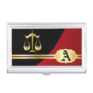 Dark Red Elegant Lawyer Card Holder Case For Business Cards