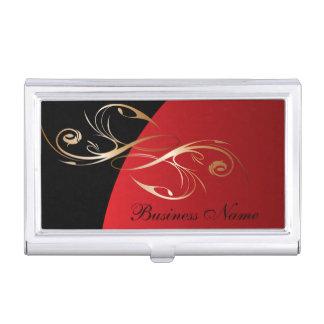 Dark Red Elegant Personalize Card Holder Business Card Cases