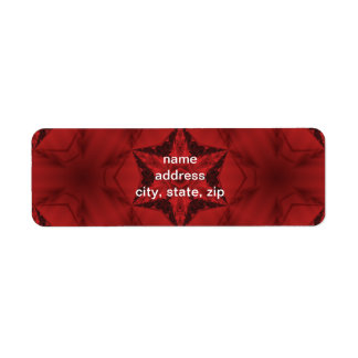 Dark red gothic kaleidoscope  6 point star