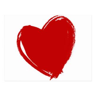 Dark Red HEART Postcard