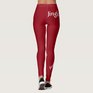 Dark red Jingle jingle jingle leggings