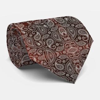 Dark Red Paisley Retro Pattern Tie