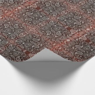 Dark Red Paisley Wrapping Paper
