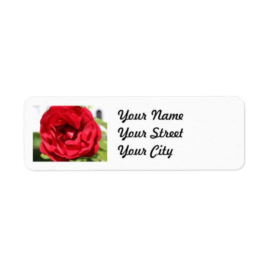 Dark red Rose Bardou Job Return Address Label