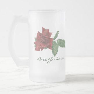 Dark Red Rose Beer Stein