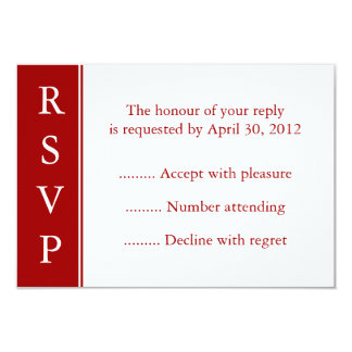 Dark Red RSVP, Response or Reply Cards