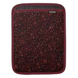 Dark Red Ruby Glitter Sleeves For iPads