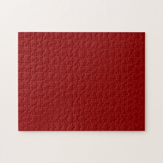 Dark Red Solid Colour Jigsaw Puzzle