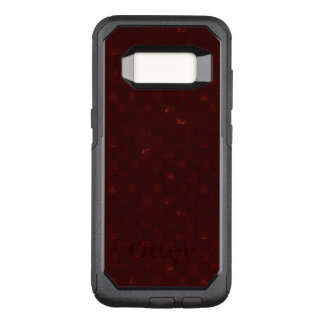 Dark Red Squares With Hints of Gold OtterBox Commuter Samsung Galaxy S8 Case