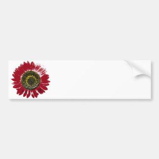 Dark Red Sunflower Bumper Sticker