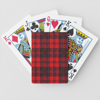 Dark Red Tartan Poker Deck