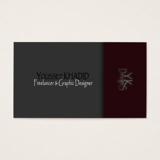 Dark Red to Grey Chic business card