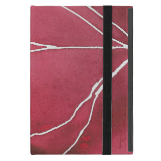 Dark Red Watercolour Marble Break Case For iPad Mini