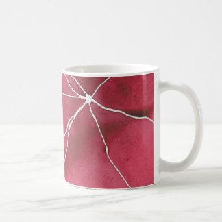Dark Red Watercolour Marble Break Coffee Mug