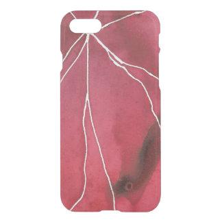 Dark Red Watercolour Marble Break iPhone 8/7 Case