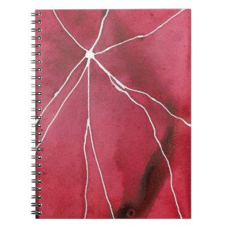 Dark Red Watercolour Marble Break Notebook