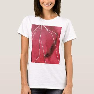 Dark Red Watercolour Marble Break T-Shirt