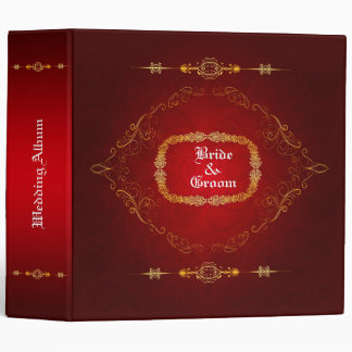 Dark Red  Wedding Album 3 Ring Binder