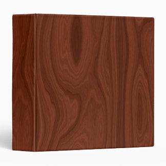 Dark Red Wood Texture 3 Ring Binders