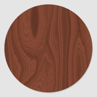 Dark Red Wood Texture Round Sticker