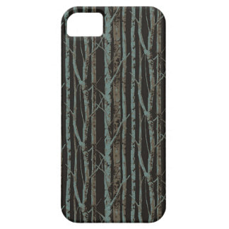 Dark Retro Birch iPhone 5 Covers