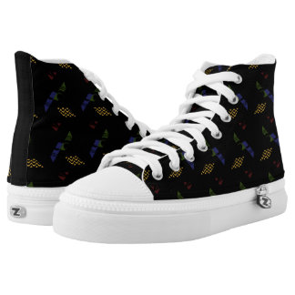 Dark Retro Funk Hi Tops