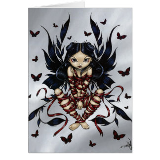 """Dark Ribbon Fairy"" Greeting Card"