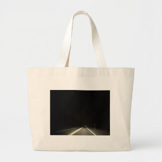 Dark roads and Night time adventures Large Tote Bag