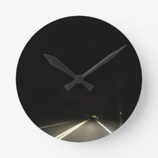 Dark roads and Night time adventures Round Clock