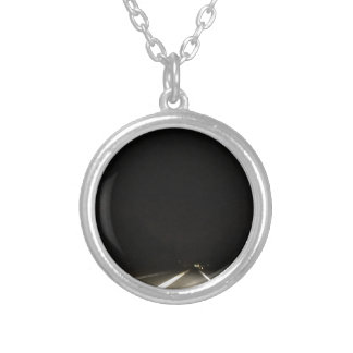 Dark roads and Night time adventures Silver Plated Necklace