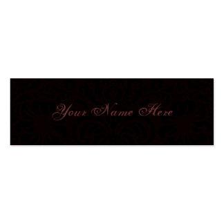 Dark Romance Mini Business Card